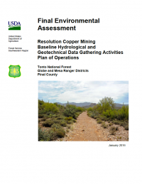 Thumbnail image of the Environmental Assessment - January 2016