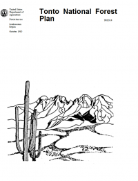 Thumbnail image of Tonto National Forest Land and Resource Management Plan document cover