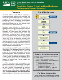Thumbnail image of the NEPA process handout from March 2016 scoping meetings
