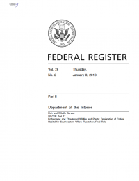 Thumbnail image of Federal Register cover page