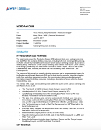 Thumbnail image of Climbing Resources Inventory memo cover