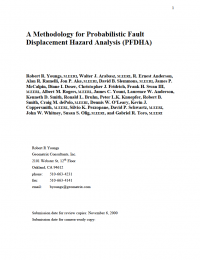 Thumbnail image of Methodology for Probababilistic Fault Displacement Hazard Analysis first page