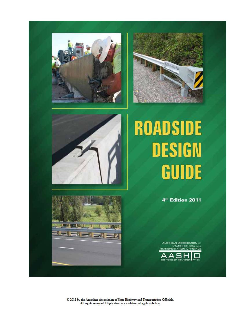 Thumbnail image of document cover: Roadside Design Guide