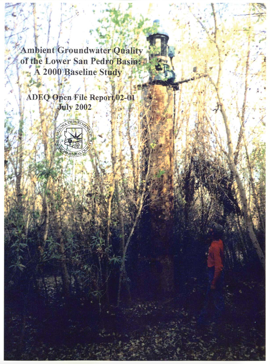 Thumbnail image of document cover: Ambient Groundwater Quality of the Lower San Pedro Basin: A 2000 Baseline Study