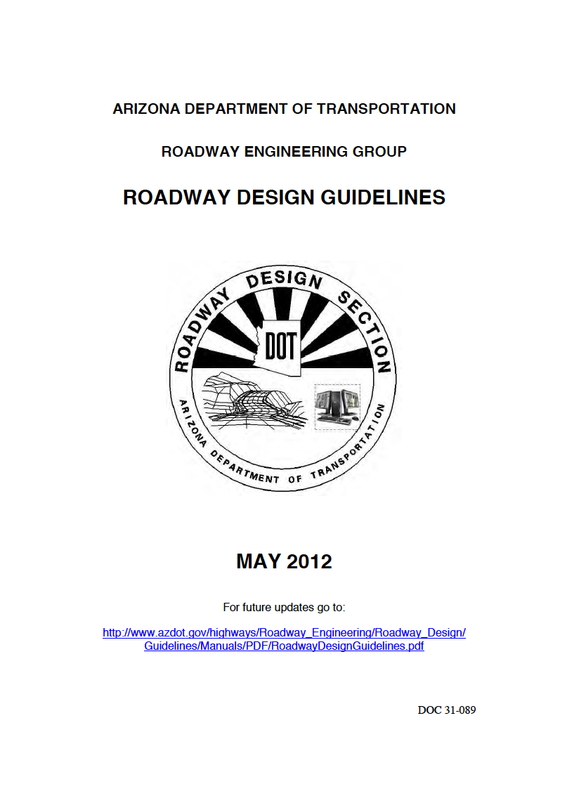 Thumbnail image of document cover: Roadway Design Guidelines