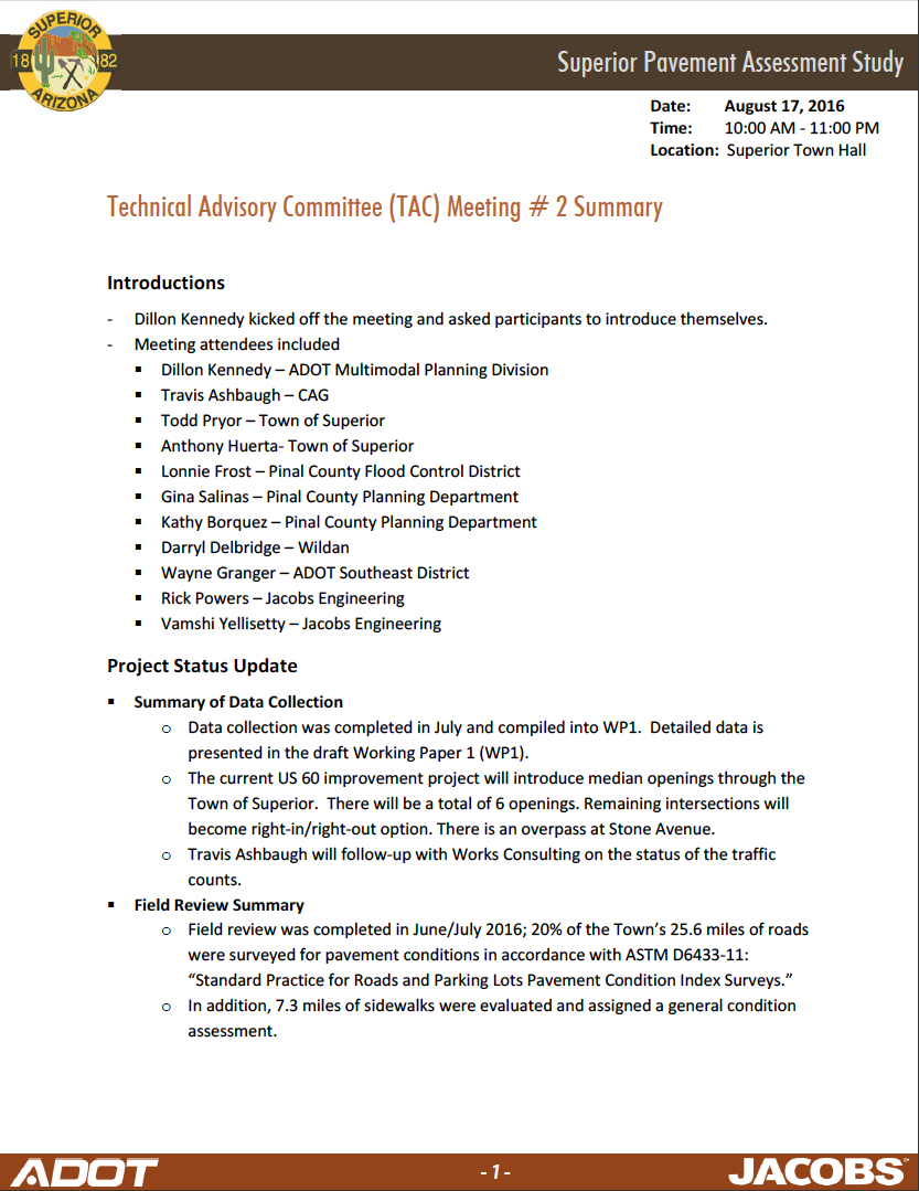 Thumbnail image of document cover: Technical Advisory Committee (TAC) Meeting #2 Summary