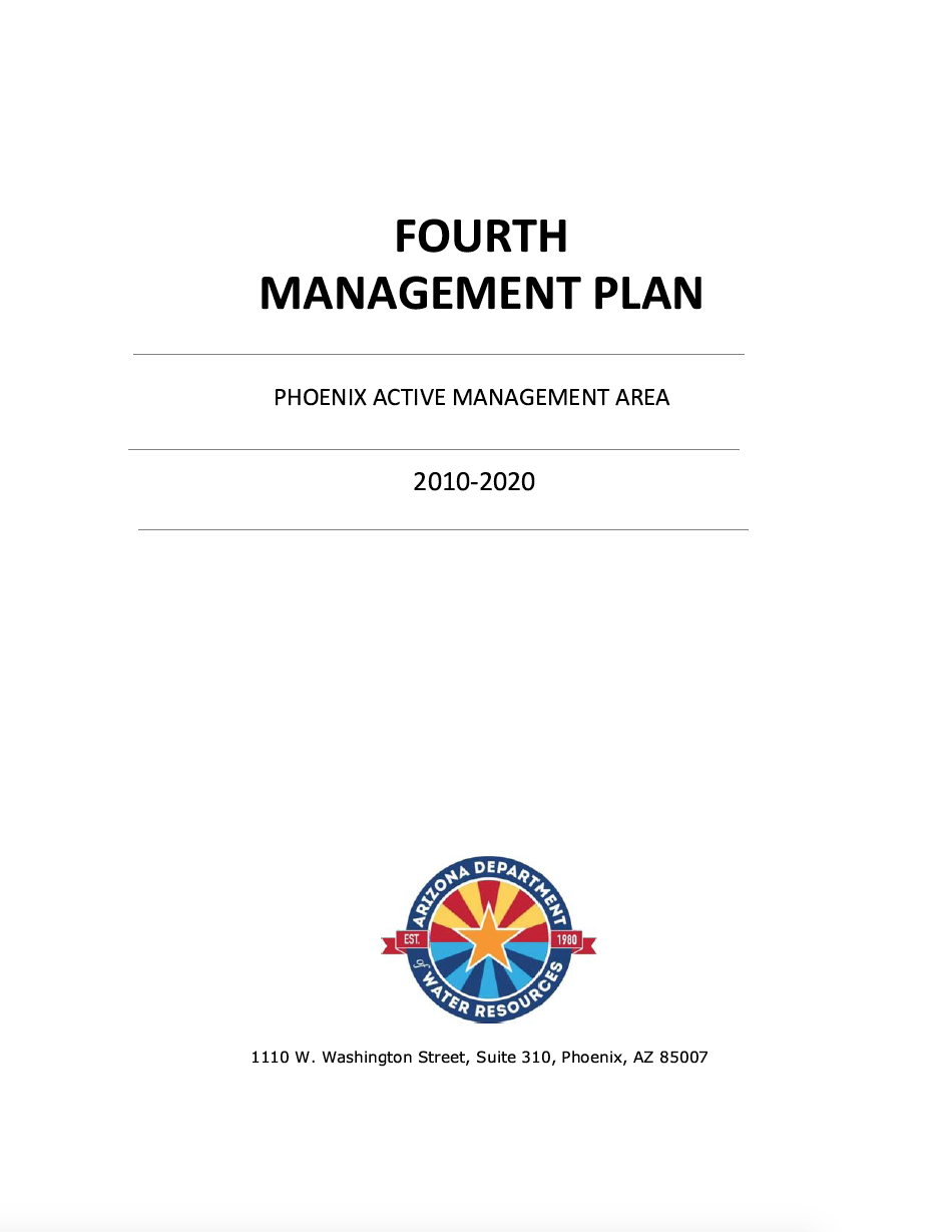 Thumbnail image of document cover: Fourth Management Plan: Phoenix AMA Management Area, 2010-2020