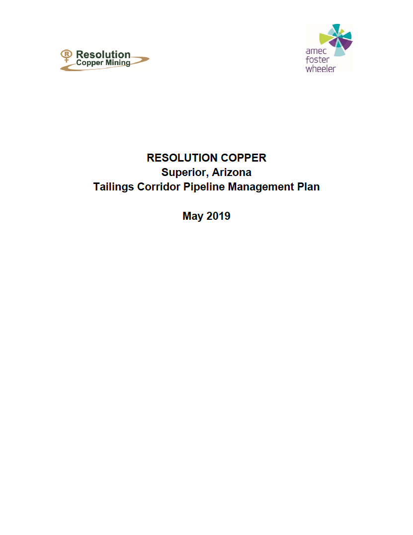 Thumbnail image of document cover: Tailings Corridor Pipeline Management Plan
