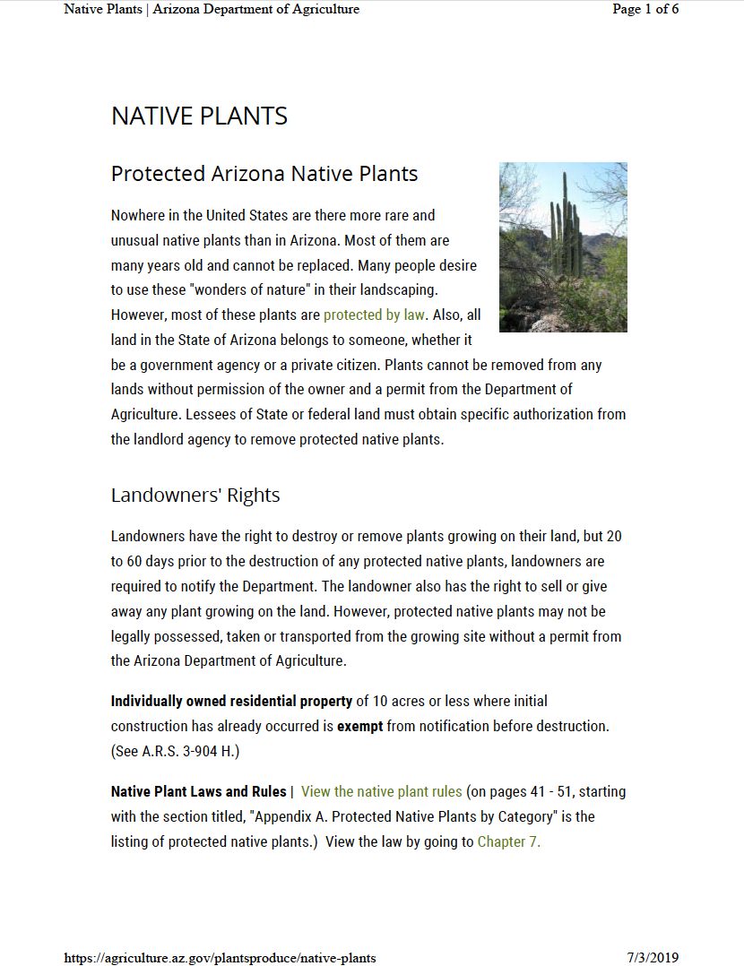 Thumbnail image of document cover: Native Plants