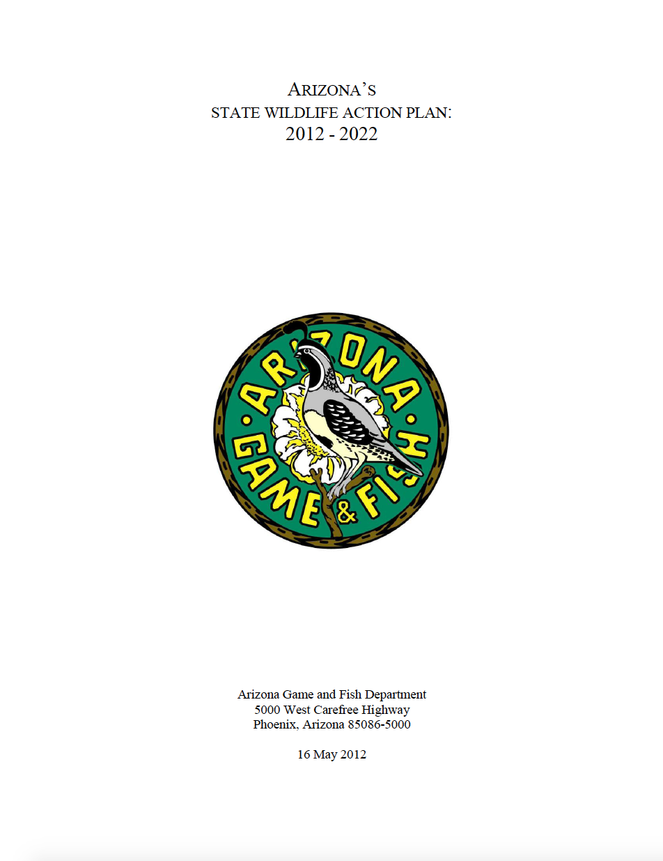 Thumbnail image of document cover: Arizona's State Wildlife Action Plan: 2012-2022