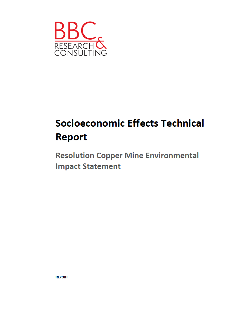 Thumbnail image of document cover: Socioeconomic Effects Technical Report
