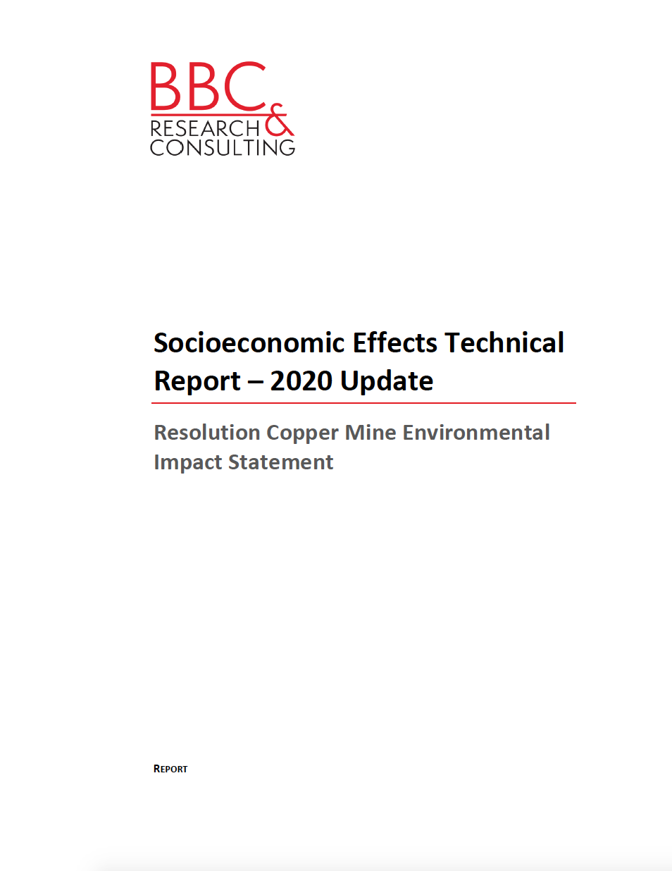 Thumbnail image of document cover: Socioeconomic Effects Technical Report - 2020 Update