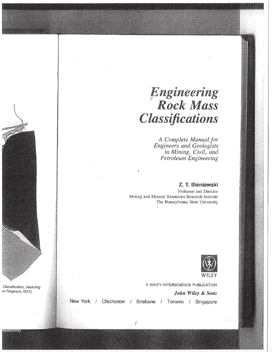 Thumbnail image of document cover: Engineering Rock Mass Classifications