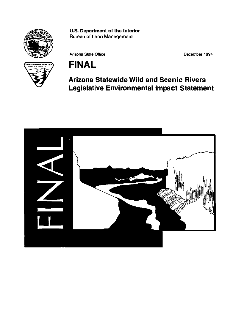 Thumbnail image of document cover: Arizona Statewide Wild and Scenic Rivers, Legislative Environmental Impact Statement