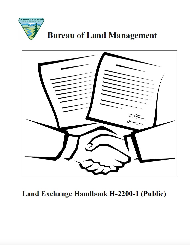 Thumbnail image of document cover: Bureau of Land Management Exchange Handbook