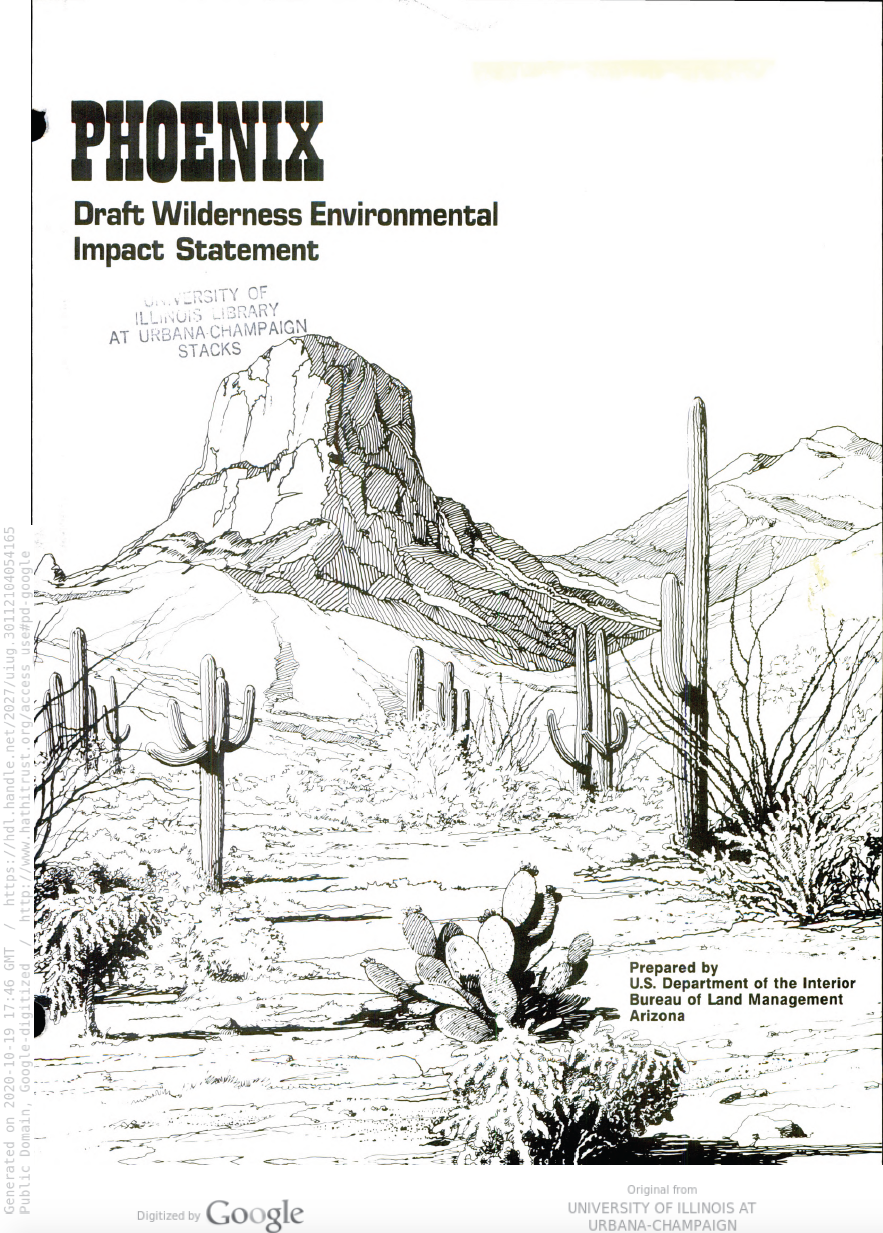 Thumbnail image of document cover: Phoenix Draft Wilderness Environmental Impact Statement