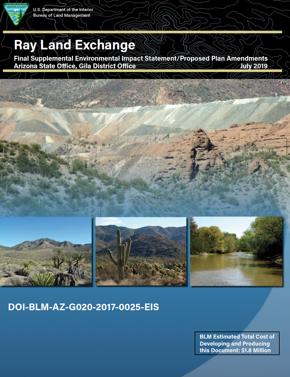 Thumbnail image of document cover: Ray Land Exchange: Final Supplemental Environmental Impact Statement/Proposed Plan Amendments