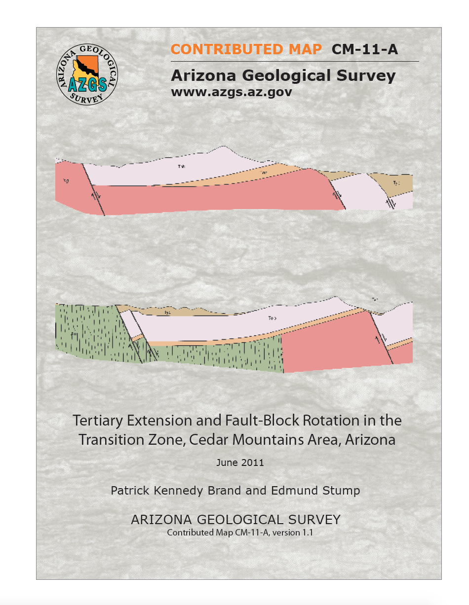 Thumbnail image of document cover: Tertiary Extension and Fault-Block Rotation in the Transition Zone, Cedar Mountains Area, Arizona