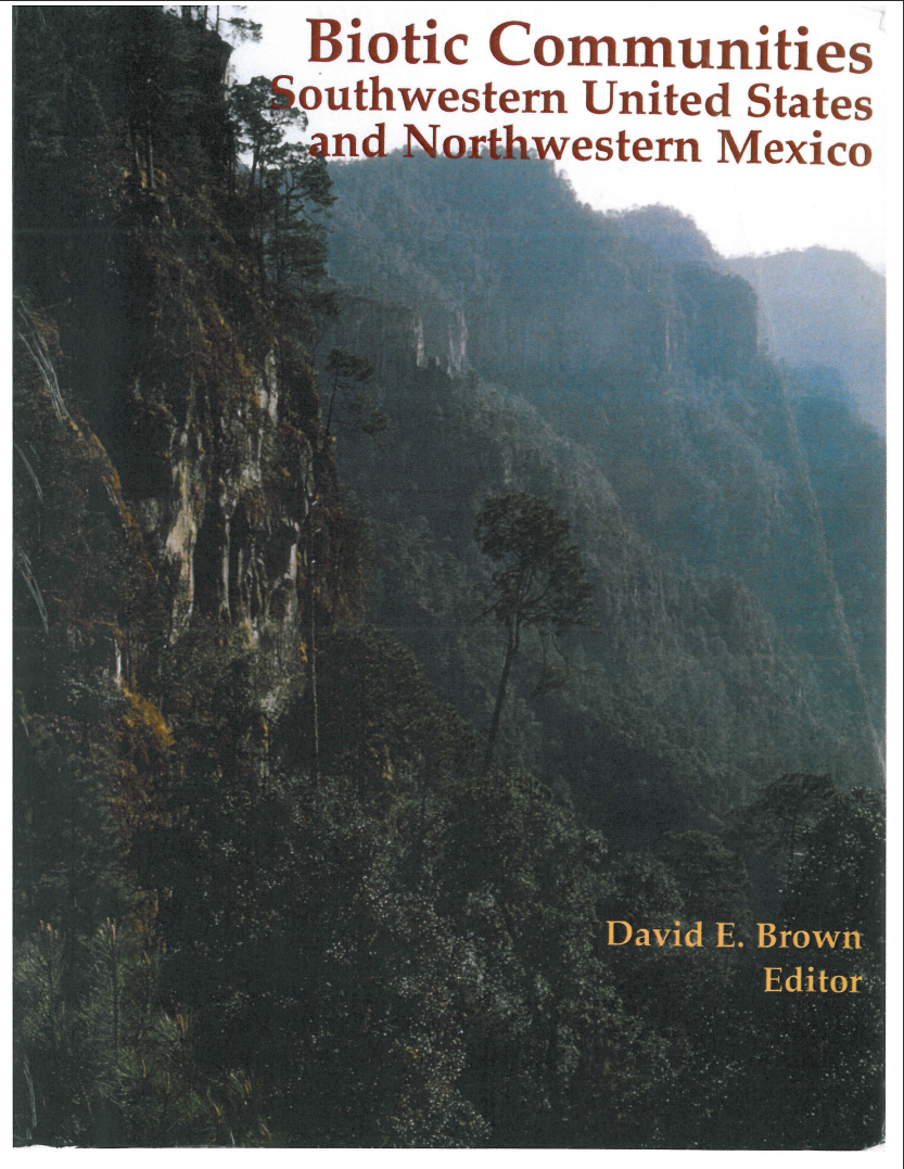 Thumbnail image of document cover: Biotic Communities of the American Southwest: United States and Mexico