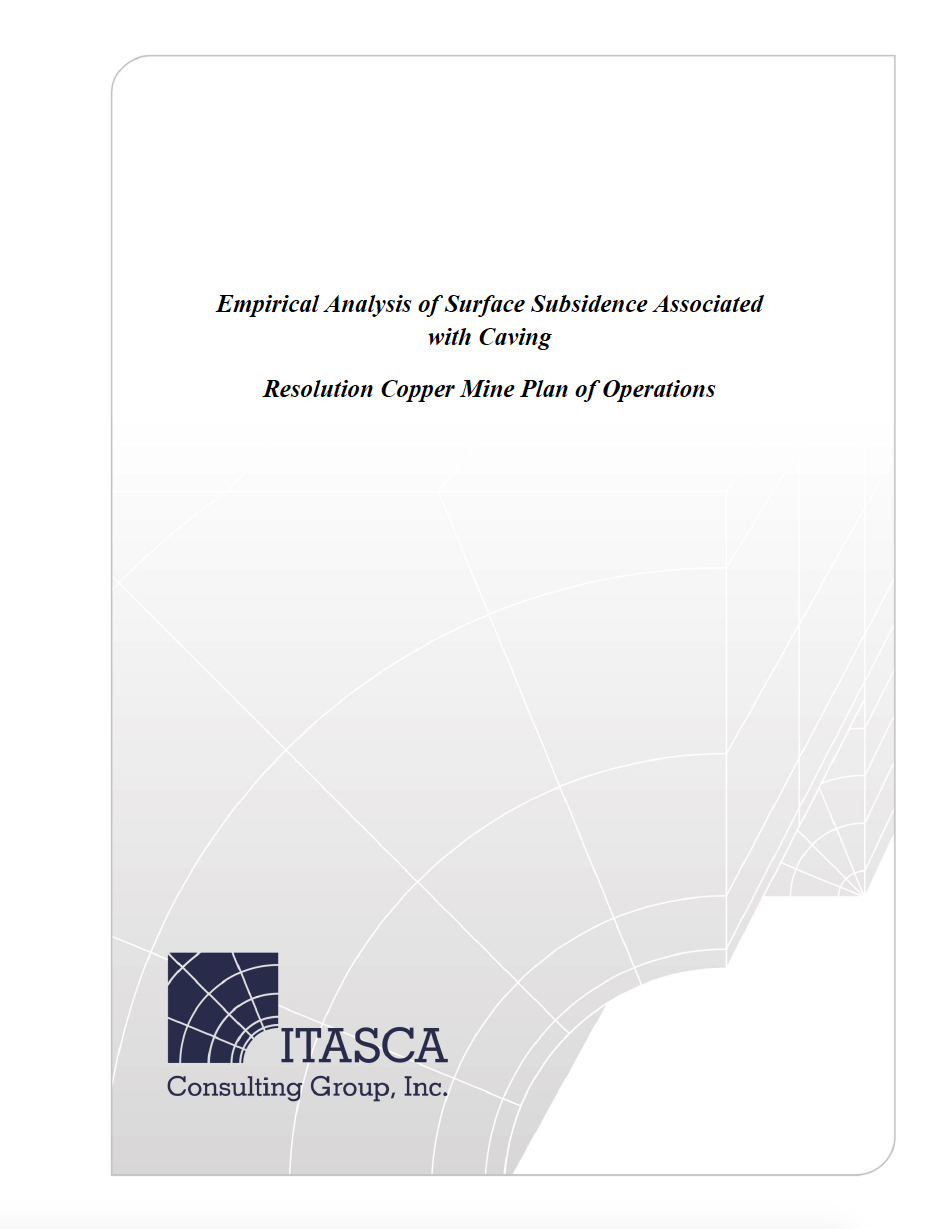 Thumbnail image of document cover: Assessment of Potential for Caving-Induced Fault Slip Seismicity at Resolution Copper Mine