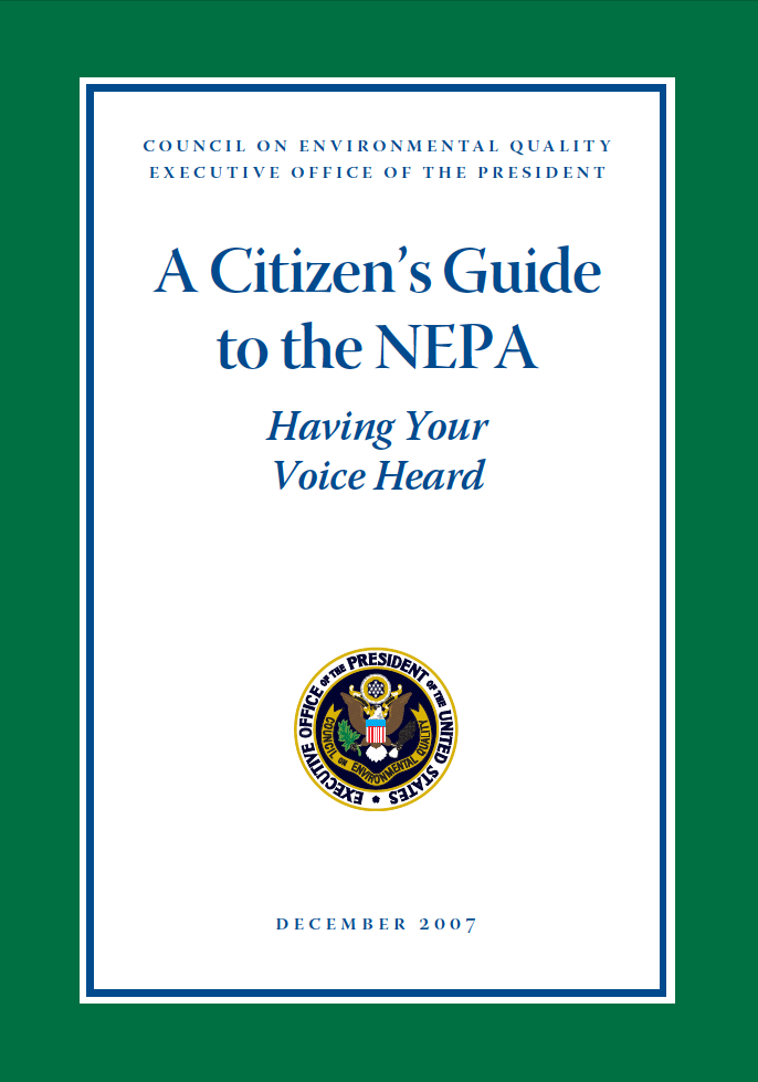Thumbnail image of document cover: A Citizen's Guide to NEPA: Having Your Voice Heard