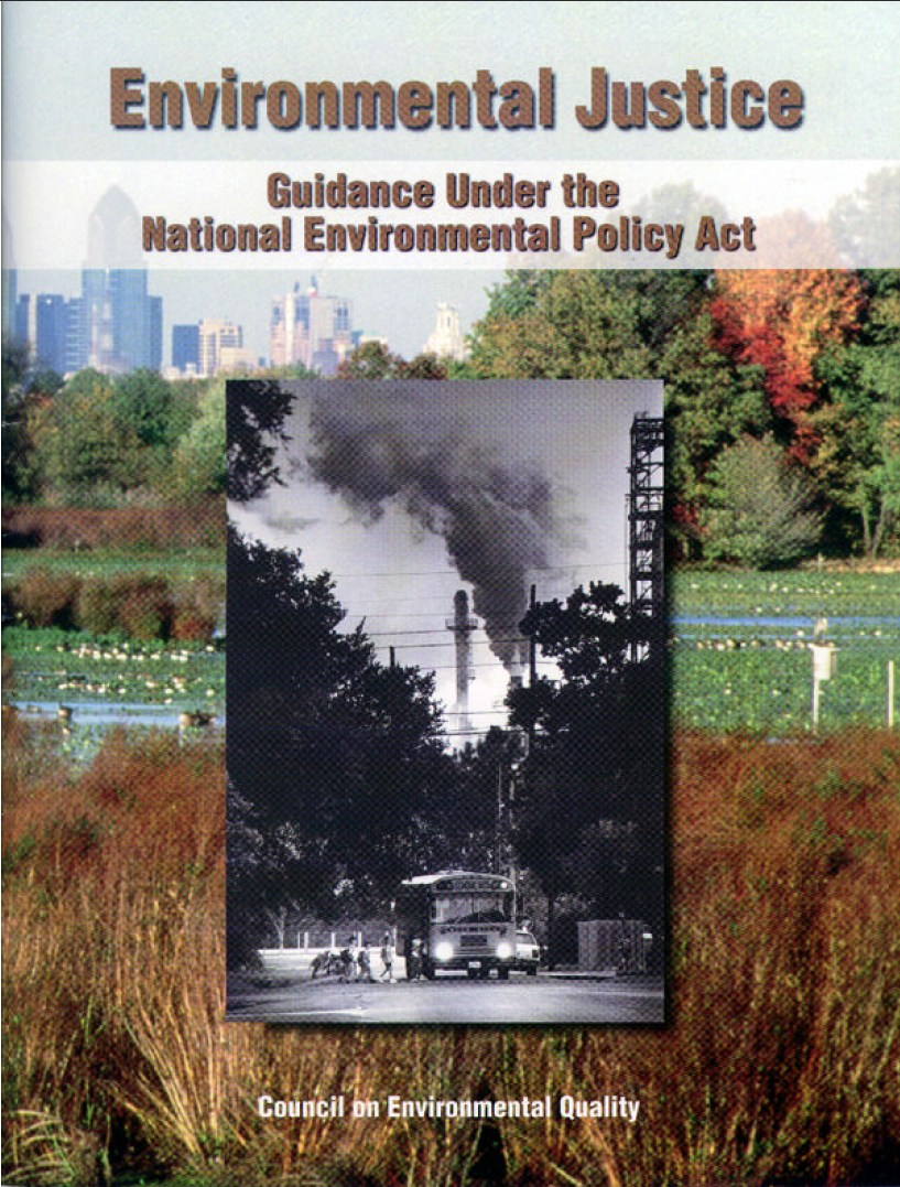 Thumbnail image of document cover: Environmental Justice: Guidance under the National Environmental Policy Act