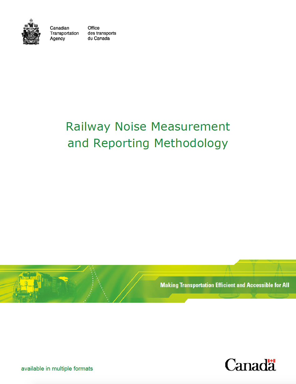 Thumbnail image of document cover: Railway Noise Measurement and Reporting Methodology