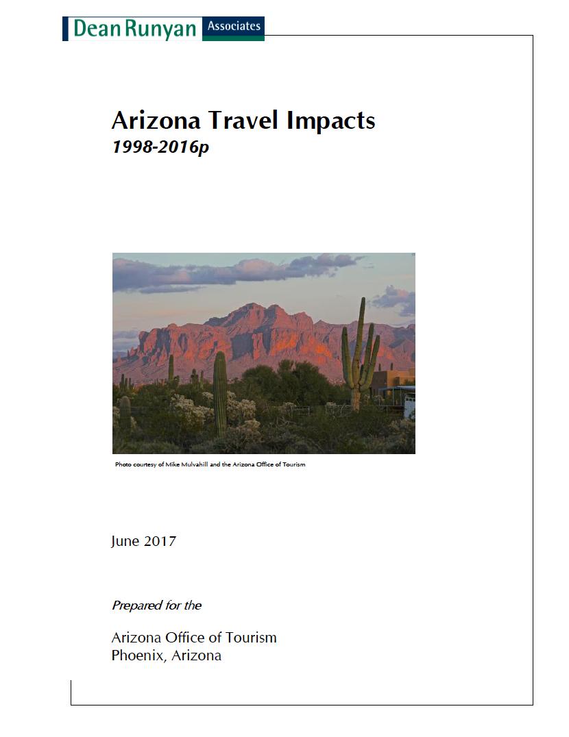 Thumbnail image of document cover: Arizona Travel Impacts 1998 - 2016p