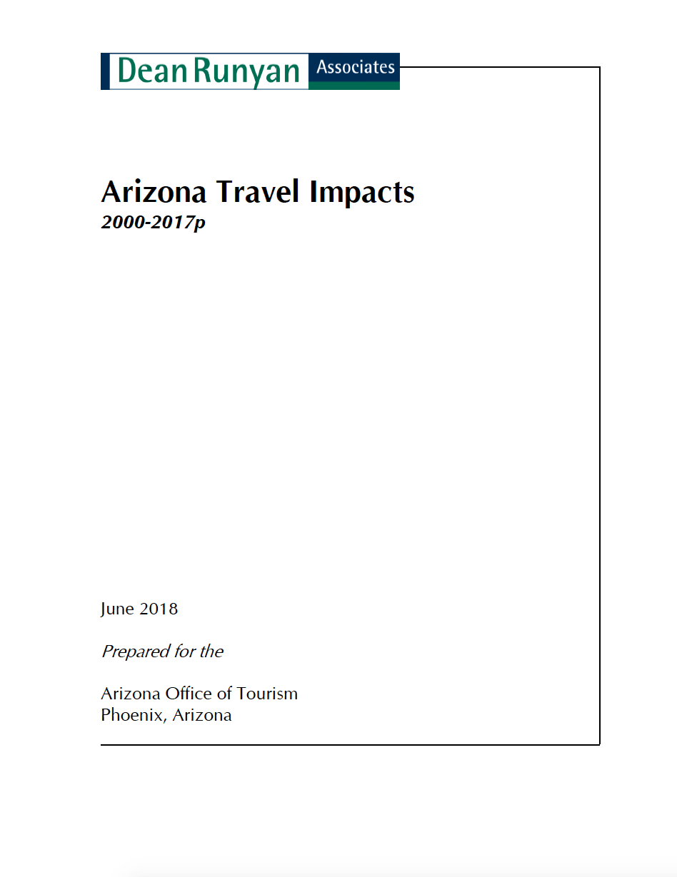Thumbnail image of document cover: Arizona Travel Impacts 2000-2017p