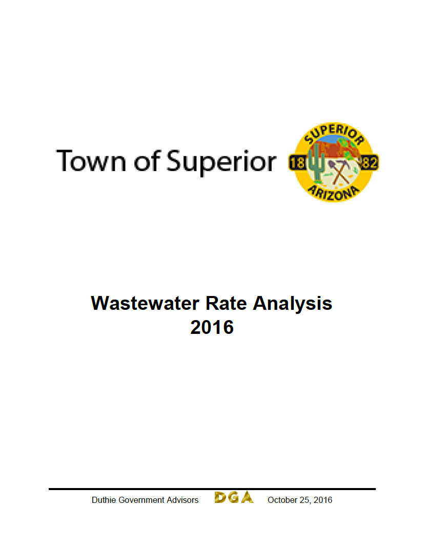 Thumbnail image of document cover: Town of Superior: Wastewater Rate Analysis