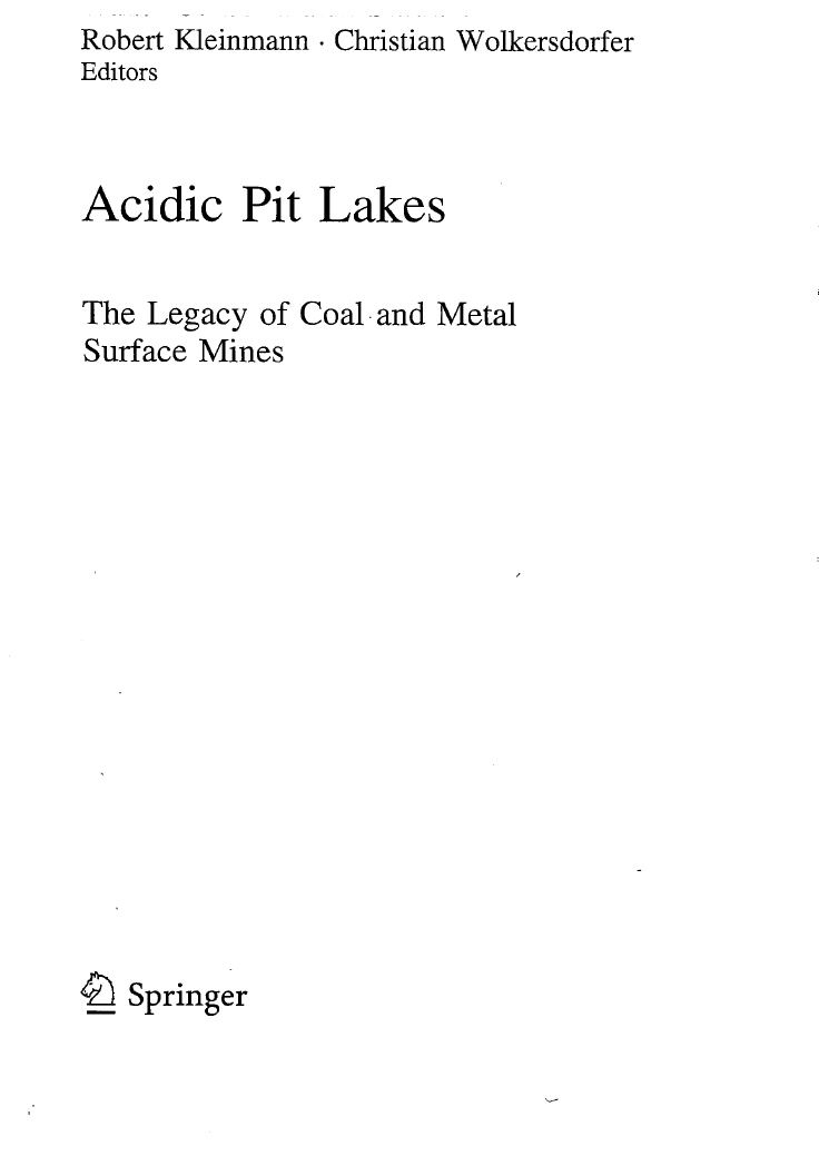 Thumbnail image of document cover: Hardrock Metal Mining Pit Lakes: Occurrence and Geochemical Characteristics
