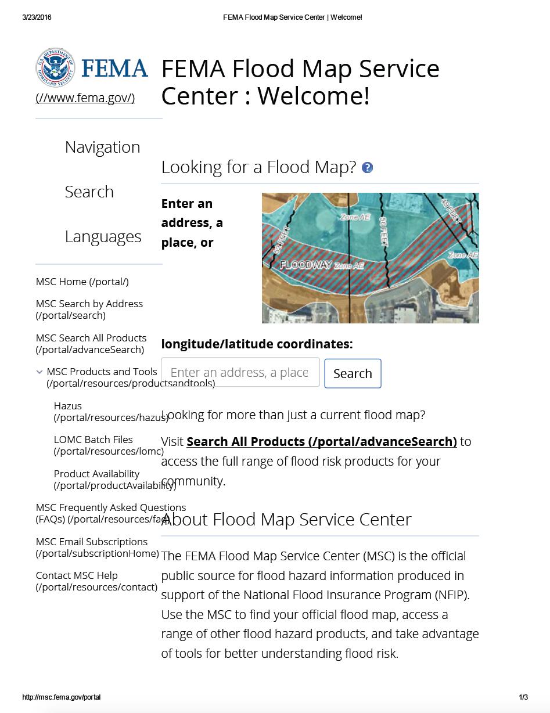 Thumbnail image of document cover: FEMA Flood Hazard Zones