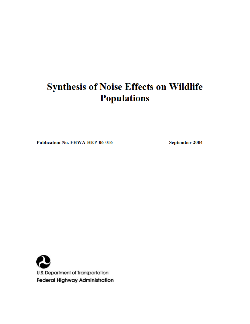 Thumbnail image of document cover: Synthesis of Noise Effects on Wildlife Populations