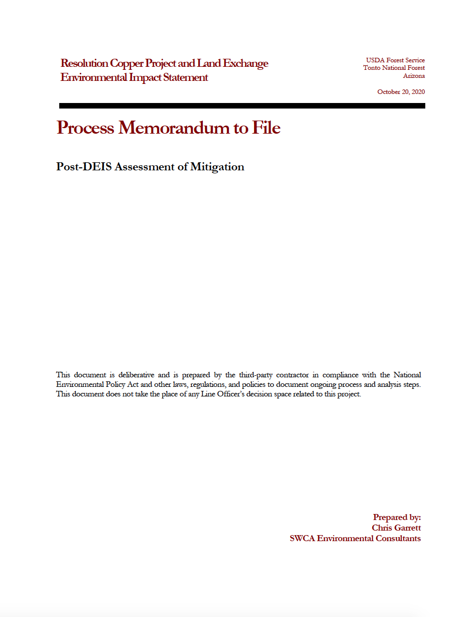 Thumbnail image of document cover: Post-DEIS Assessment of Mitigation