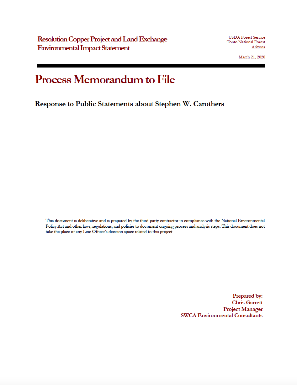 Thumbnail image of document cover: Response to Public Statements about Stephen W. Carothers