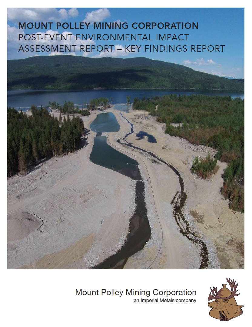 Thumbnail image of document cover: Mount Polley Mining Corporation, Post-Event Impact Assessment Report - Key Findings Report