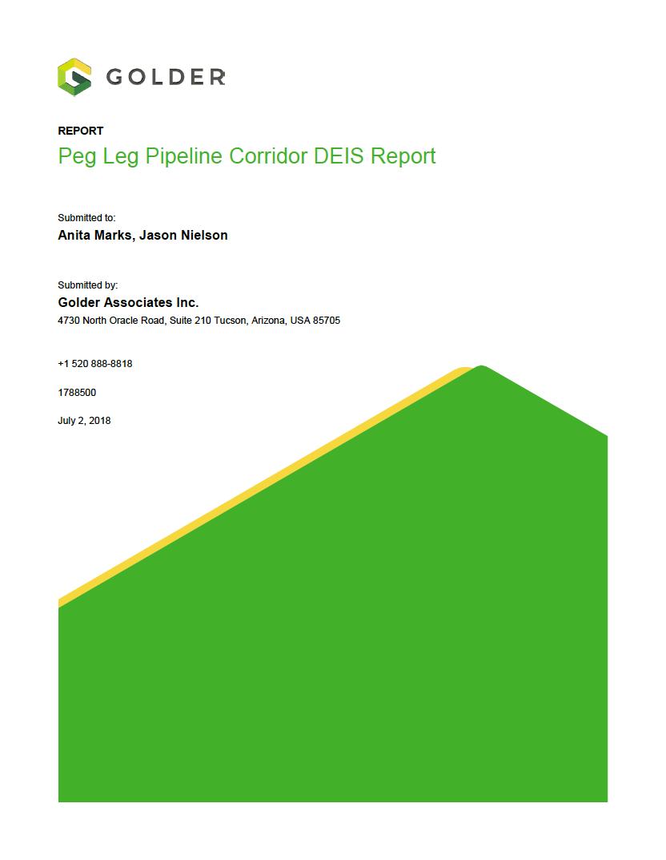 Thumbnail image of document cover: Peg Leg Pipeline Corridor DEIS Report