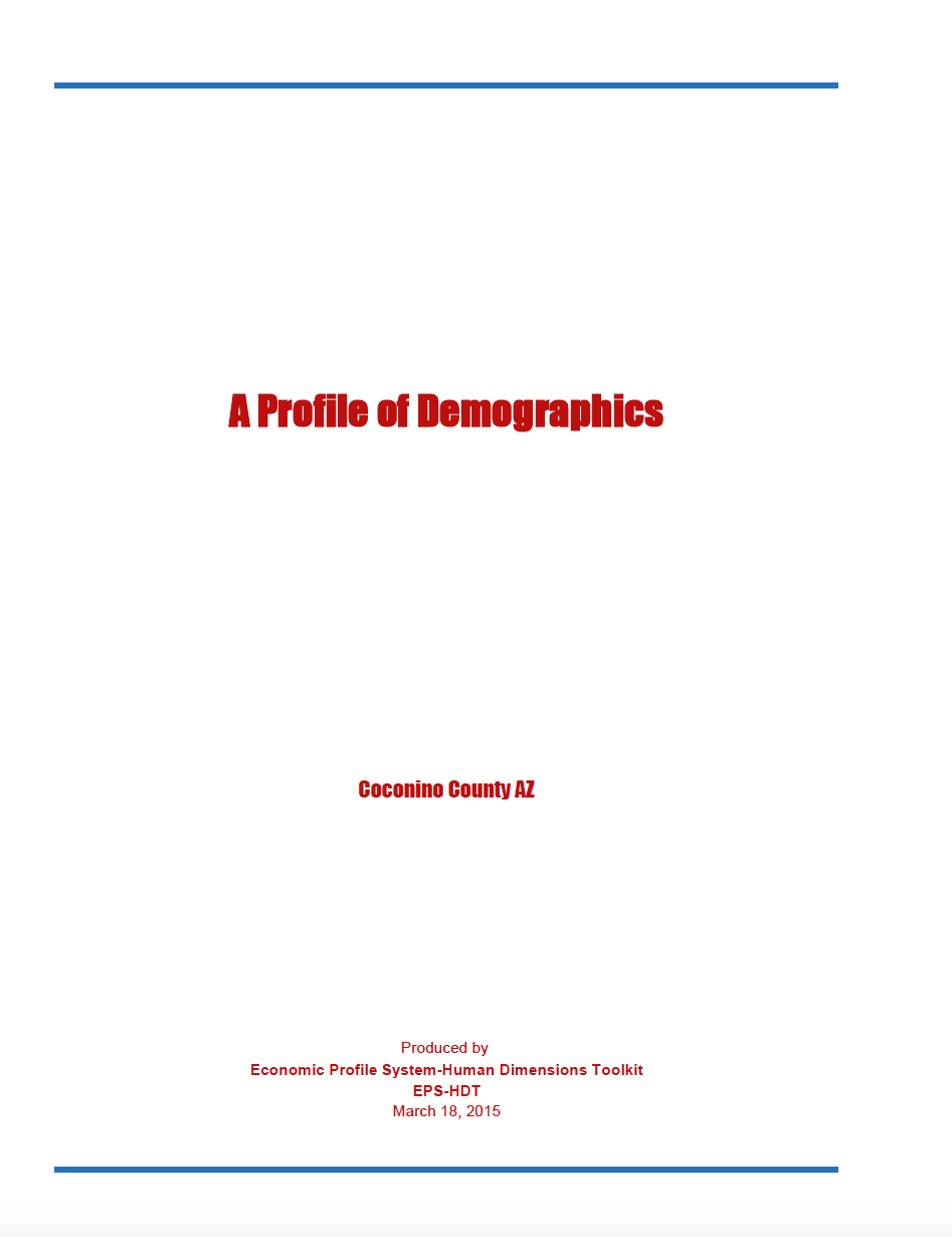 Thumbnail image of document cover: A Profile of Demographics
