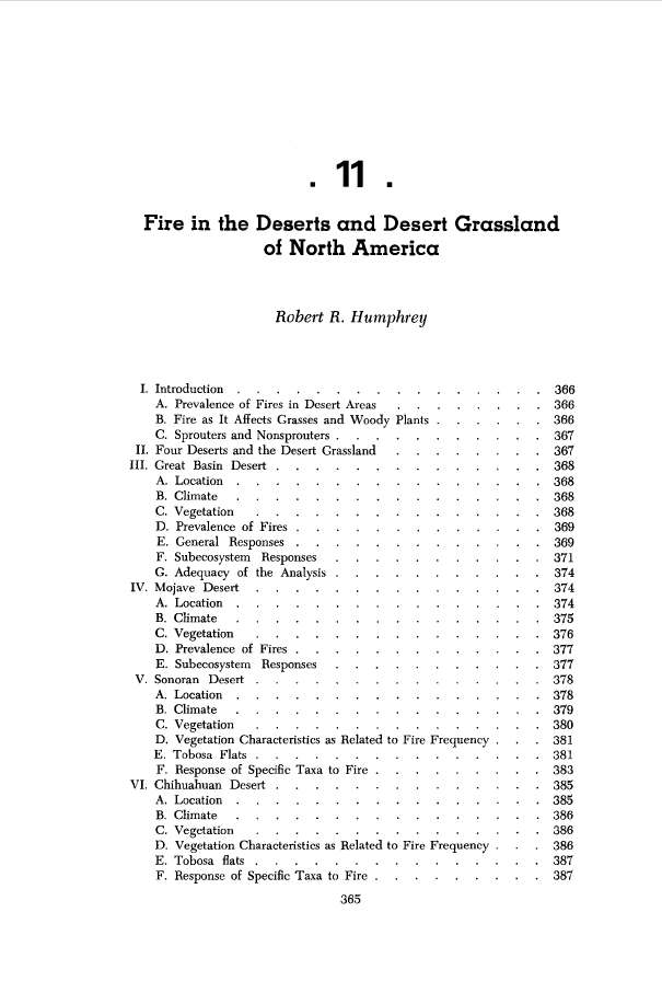 Thumbnail image of document cover: Fire in the Deserts and Desert Grasslands of North America