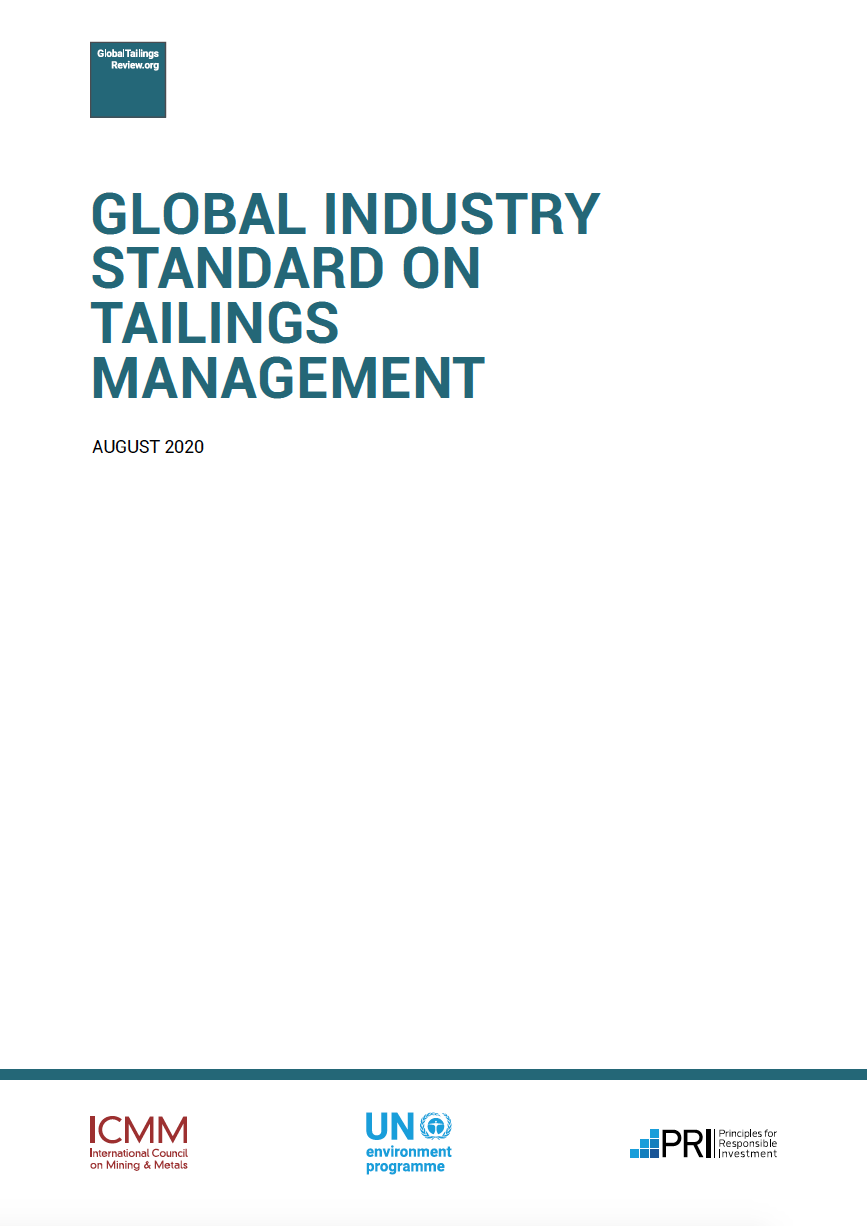 Thumbnail image of document cover: Global Industry Standard on Tailings Management