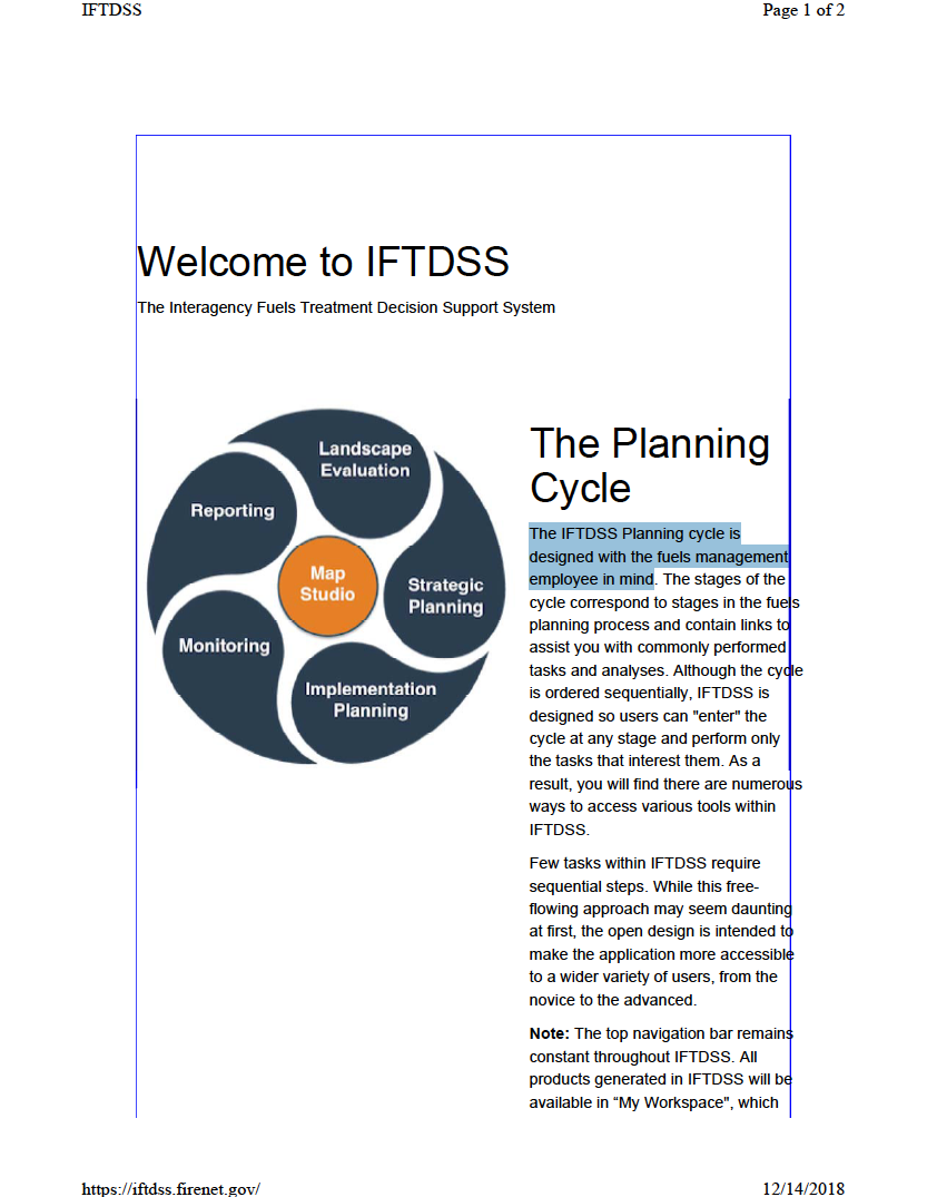Thumbnail image of document cover: Welcome to IFTDSS: The Planning Cycle