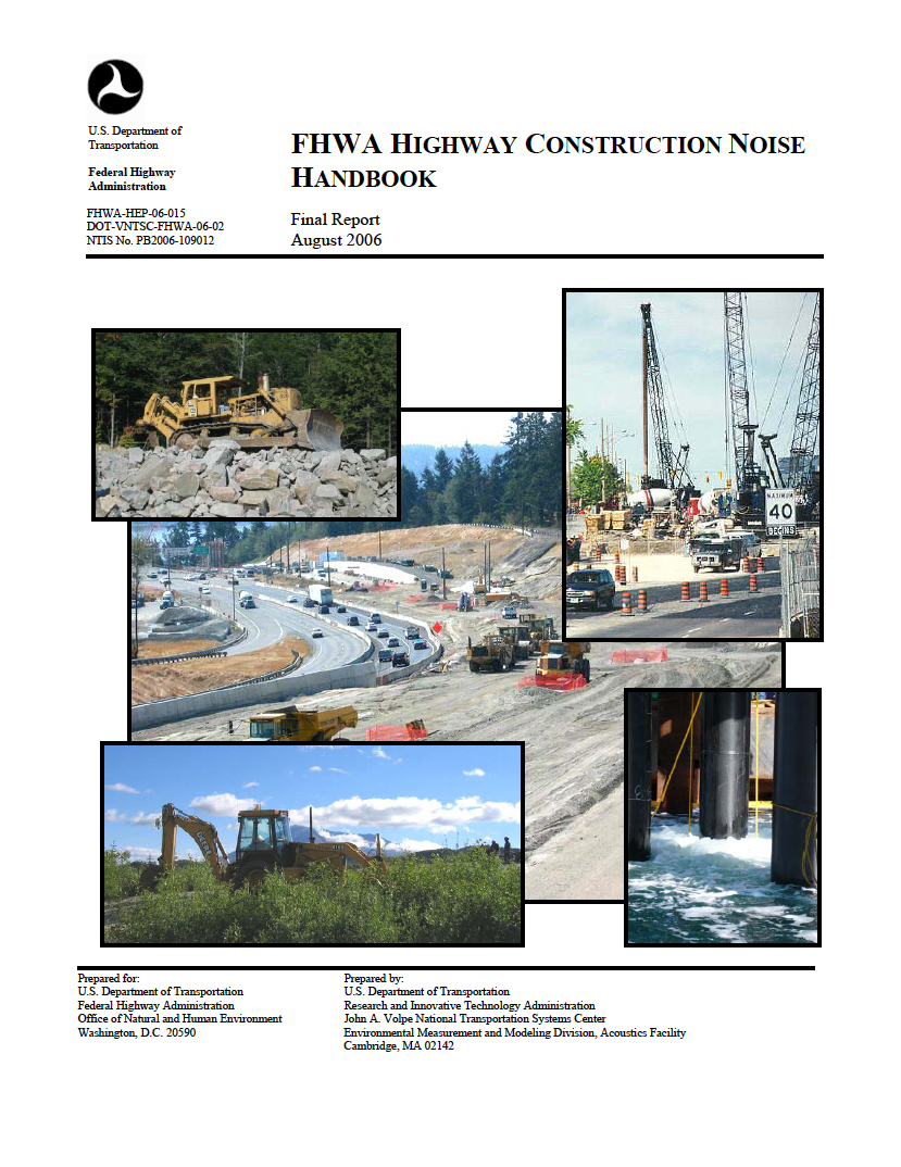 Thumbnail image of document cover: FHWA Highway Construction Noise Handbook