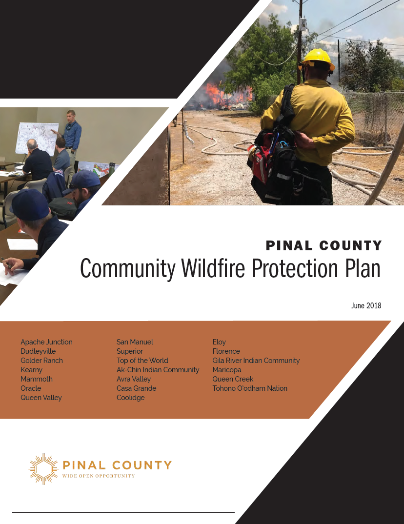 Thumbnail image of document cover: Pinal County Community Wildfire Protection Plan