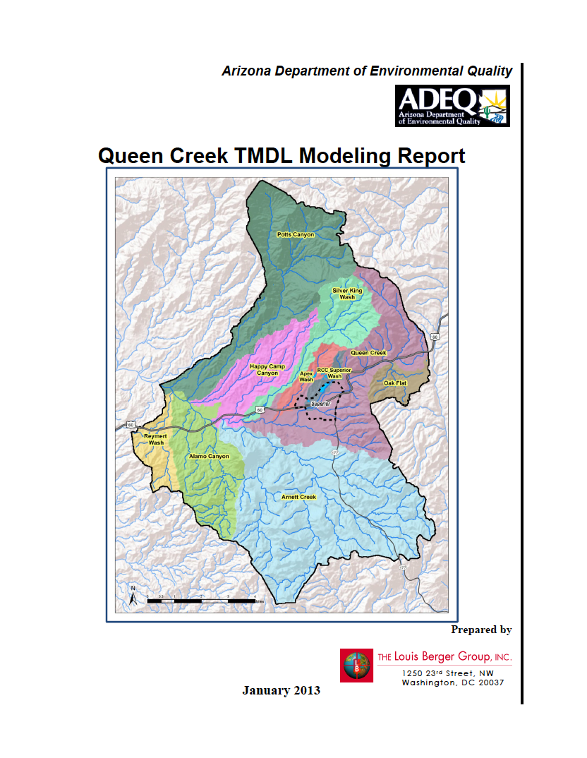 Thumbnail image of document cover: Queen Creek TMDL Modeling Report