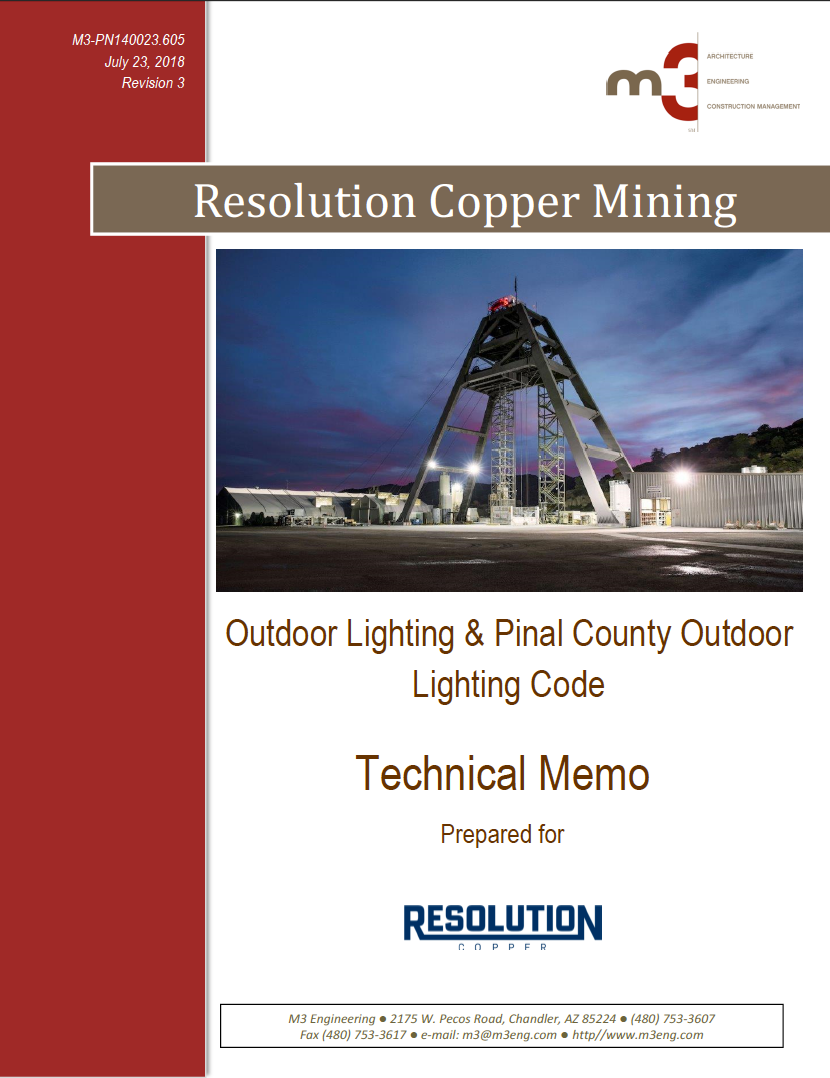 Thumbnail image of document cover: Outdoor Lighting and Pinal County Outdoor Lighting Code
