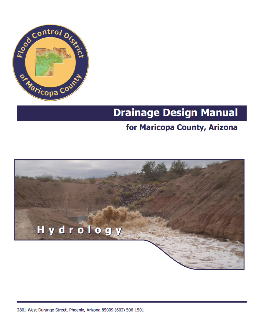 Thumbnail image of document cover: Drainage Design Manual for Maricopa County; Hydrology