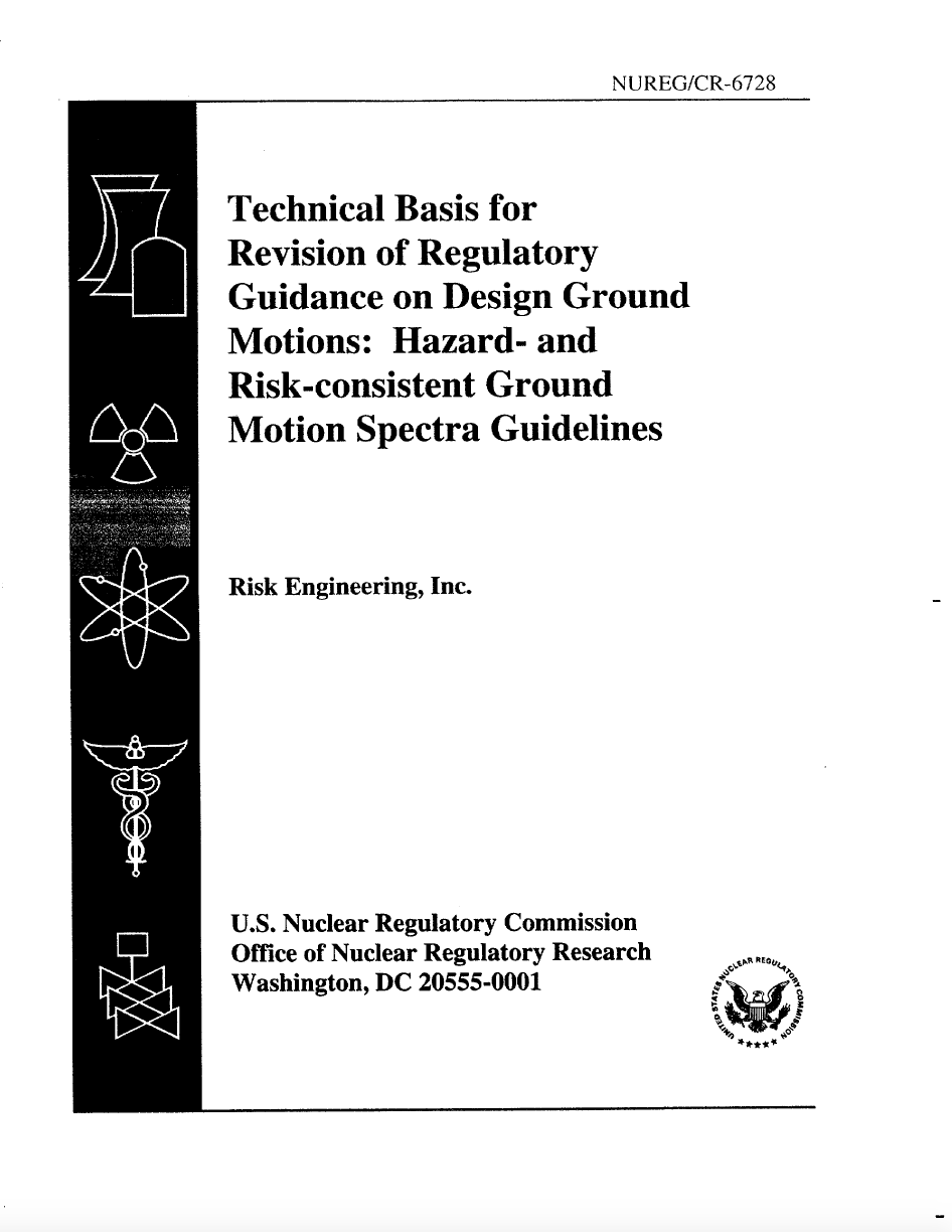 Thumbnail image of document cover: Technical Basis for Revision of Regulatory Guidance on Design Ground Motions: Hazard- and Risk-Consistent Ground Motion Spectra Guidelines