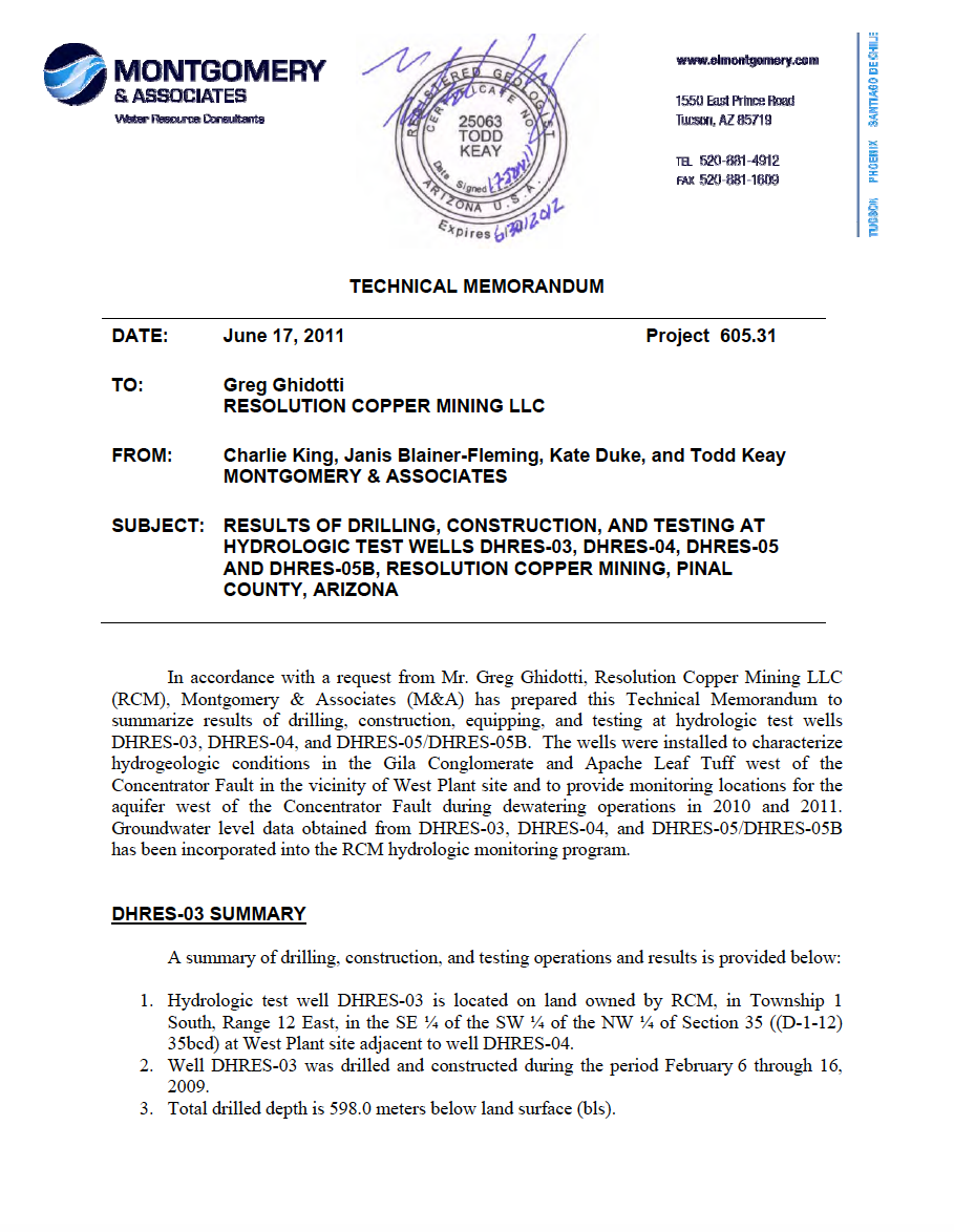 Thumbnail image of document cover: Results of Drilling, Construction, Equipping, and Testing at Hydrologic Test Wells DHRES-03, DHRES-04, DHRES-05, and DHRES-05B