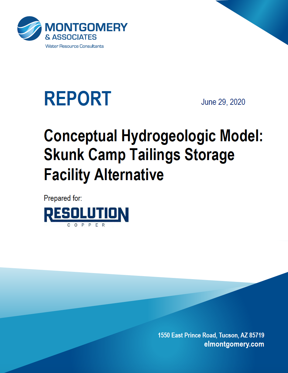 Thumbnail image of document cover: Conceptual Hydrogeologic Model: Skunk Camp Tailings Storage Facility Alternative