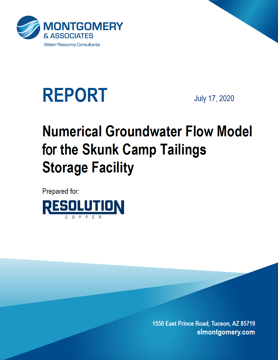 Thumbnail image of document cover: Numerical Groundwater Flow Model for the Skunk Camp Tailings Storage Facility